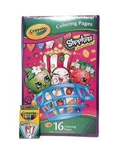 Crayola Shopkins Giant 16 Page Coloring Activity Book & Shopkins Crayola Crayons Pack Shopkins http://www.amazon.com/dp/B01AM2SAWA/ref=cm_sw_r_pi_dp_31c4wb0AV89PK