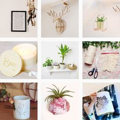 DIY Makramee-Feder in 3 einfachen Schritten Diy Christmas Gifts, Planter Pots, Gallery Wall, Table Decorations, Photo And Video, Halloween, Frame, Textiles, Instagram