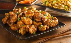 Top Recipes, Asian Recipes, Dinner Recipes, Cooking Recipes, Healthy Recipes, Ethnic Recipes, Poulet General Tao, Orange Chicken, Asian Cooking