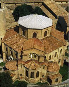 Aerial View of San Vitale, Ravenna Italy. Byzantine.