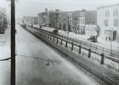 Rare 1923 Photo of Atlantic Ave. looking West from Sackman St.