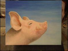 Pig by sarahfrench on DeviantArt Pig Crafts, Pig Drawing, Pig Art, Pigs, Deviantart, Drawings, Artist, Painting, Collection