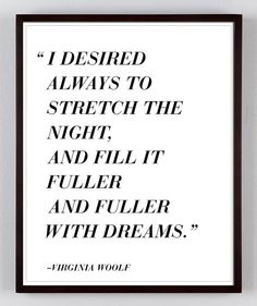 Typographic Art LIterary Quote Virginia by LaurelCanyonDreaming