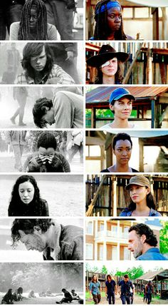 Michonne, Carl Grimes, Maggie Rhee, Sasha Williams, Rosita Espinosa, Rick Grimes ■ Season 7 Episode 1 and Season 7 Episode 8 | The Walking Dead