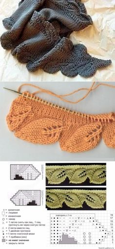 Knitting Help, Finger Knitting, Knitting Charts, Knitting Stitches, Leaf Knitting Pattern, Baby Knitting Patterns, Lace Knitting, Knitting Tutorials, Lace Patterns