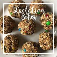 No Bake Lactation Bites Recipe (with M&Ms and Chocolate Chips!) - These lactation balls are easy to make and have three breast milk supply boosting ingredients! Sin Gluten, Breastfeeding Cookies, Breastfeeding Tips, Breastfeeding Smoothie, Breastfeeding Nutrition, Baby Food Recipes, Cookie Recipes, Egg Recipes, Bread Recipes
