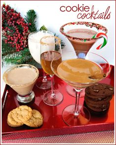Cookie Cocktails {Guest Blogger} — Celebrations at Home.  Oh my goodness this could go with my Christmas cookie exchange!
