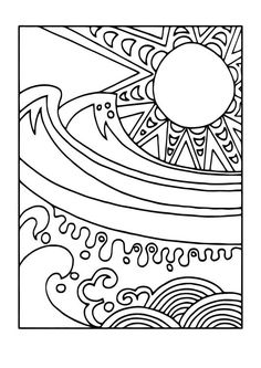 Coloring page sun and sea - coloring picture sun and sea. Free coloring sheets to print and download. Images for schools and education - teaching materials. Img 11440.