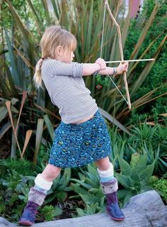 """""""How to: Make Bow and Arrows to have an Afternoon Adventure""""  It's all fun and games until somebody loses an eye...  ;)"""