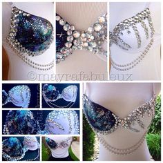Galaxy bling rave bra