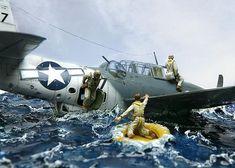 War planes diorama