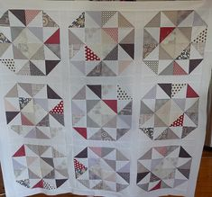 I started the HST quilt in August this year. I wanted to try out my Baby Go cutter and decided to try cutting half square triangles for a.