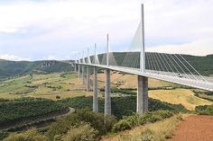 The bridge spans the gorgeous Tarn River valley, is about 2.5km long and is the tallest bridge in the world.