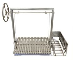 This is a Stainless Steel Argentine Grill Kit. Comes in 36X24 and 48X24, and can be accompanied by a side or a rear brasero to make embers in true Argentine style.Shown in a left handed model with side brasero.