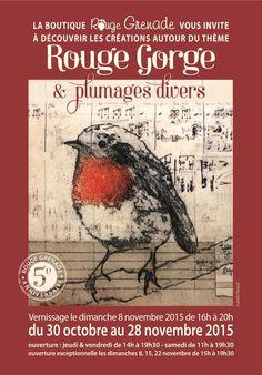 Exposition collective - Rouge Gorge et plumages divers - novembre 2015