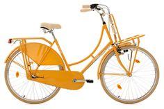 Hollandrad 28'' Tussaud 3-Gang gelb mit Frontgepäckträger RH 54 cm KS Cycling