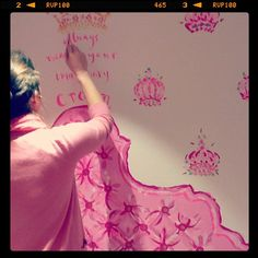 My favorite dressing room in the Lilly Pulitzer store in South Park - always wear your invisible crown....