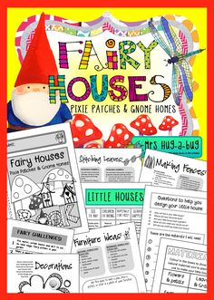 $ Get your hands dirty designing and building a little house suitable for Fairies, Pixies or Gnomes to inhabit – and not just for the girls!  This Fairy House building pack and accompanying 26 page mini booklet is designed to captivate their imaginations and record their building experiences...