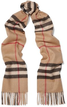 Burberry London - London Checked Cashmere Scarf - Camel