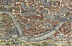Old Map of Rome Roma, Italy 1580 Antique Vintage Italy on Etsy, $29.00