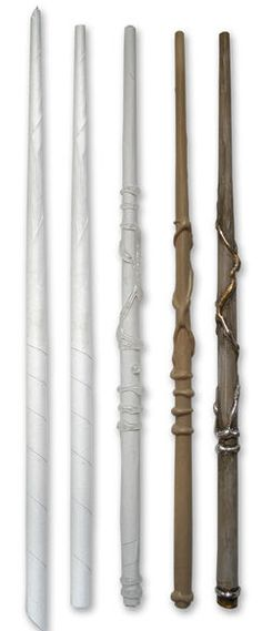 these are just paper and hot glue!!  yep, make your own wizard wands - so cool!