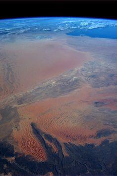Algeria.  Taken October 14, 2013.  KN from space.