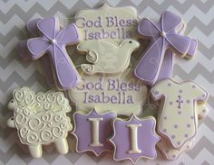 Baptism cookies. I just love these colors.#babybeauandbelle #dreamchristening