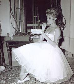 Bardot. Love her dress