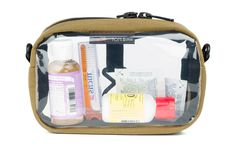 3D Clear Organizer Cube - 3-1-1 toiletries bag. Clear front and back. Made in USA. - TOM BIHN