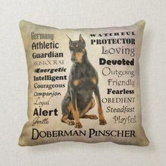 Doberman Traits Pillow rottweiler doberman mix, doberman halloween, doberman pinscher puppy #dobermansonly #dobermanpinschersofinstagram #dobermanpincher, back to school, aesthetic wallpaper, y2k fashion