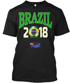 9b9ca30d529 BRAZIL 2018 Football Championship Tshirt. Mundial FootballWorldcup ...