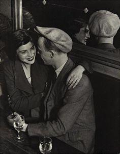 theblacksquare:Couple at the Bal des Quatre Saisons, Rue de Lappe, 1932 | Gelatin silver print | 29.5 x 23.2cm | Brassai