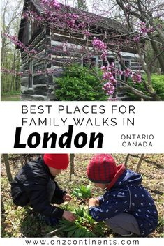 Discover the best places for hiking and family walks in and around London Ontario Canada. #familytravel #on2continentstravelblog #travelblog #canadian #canada #hiking #local #ontario #canada #london #ldn #ldngem #nature #familytrips #cityoflondon #forestcity #519 #510ldn #thingstodo #wheretogo Storybook Gardens, Walks In London, Forest City, Green Park, Dogs And Kids, London City, Canada Travel, Park City, Continents