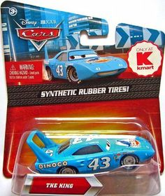 Disney / Pixar CARS Movie Exclusive 155 Die Cast Car with Synthetic Rubber Tires King by Mattel Toys. $19.95. Disney Pixar Cars Kmart Exclusive Piston Cup Racers with Synthetic Rubber Tires from Mattel. For Ages 3 & Up. The King #43 (Kmart Exclusive with Synthetic Rubber Tires!) Disney Pixar Cars diecast toy. Collect your favorites from the cast of CARS with these (Hot Wheels size) diecast actionsized vehicles! These exclusive Cars come with sythentic rubber tires!