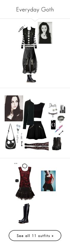 """""""Everyday Goth"""" by mothangel ❤ liked on Polyvore featuring Maurie & Eve, Forever 21, Jean-Paul Gaultier, Cameo, evanescence, amylee, Juicy Couture, Alice + Olivia, Tomas Maier and ASOS"""