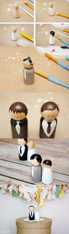 Adorno DIY para tu pastel / http://blog.consumercrafts.com