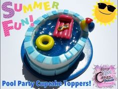 ▶ How To Make Pool Party Cupcake Toppers - YouTube