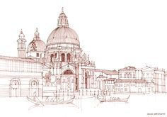 architectural sketches on Behance