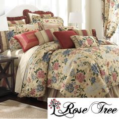 Nature comes to life in the Arboretum 4-piece comforter set featuring a vivid floral and butterfly print on taupe ground. Made from 100-percent cotton, this gorgeous set includes a comforter, bedskirt and two shams to complete the look.