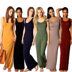 Mulheres Elegantes Do Partido Ladies Sexy Tanque Vestido Comprido