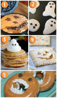 Fun Halloween Breakfast Ideas- for the kids. Cute!