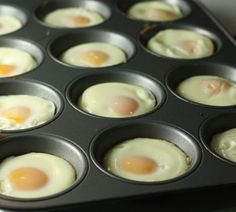 Baking eggs in a muffin pan to make egg mcmuffins