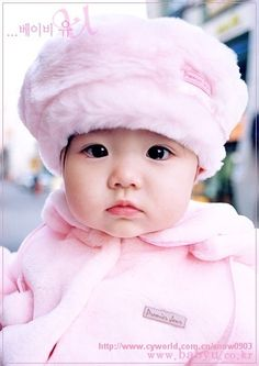 beautiful Korean baby girl. She looks like cotton candy.