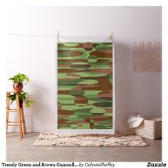 Sold! a swatch of my Trendy Green and Brown Camouflage Spheres Fabric (LA) Thank you.