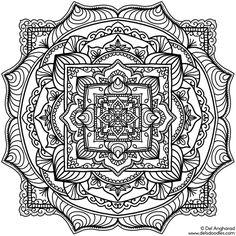 ≡ coloring page Mandala 24