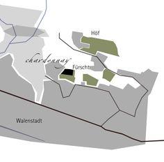 Lage des Chardonnay Walensee Sauvignon Blanc