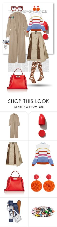 """""""Untitled #421"""" by taylorthefashionsnob ❤ liked on Polyvore featuring The Row, NARS Cosmetics, Facetasm, Anna October, Fendi, Axel, Hermès, Shourouk, Chanel and fendi"""