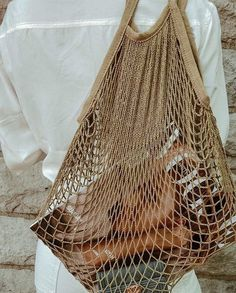 Beige Aesthetic, Summer Aesthetic, Net Bag, Reusable Bags, Mode Inspiration, Minimalist Fashion, Ootd, Parisian, Vogue