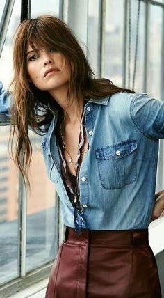 ♥ #blue ☮ #jeans ☮ denim shirt