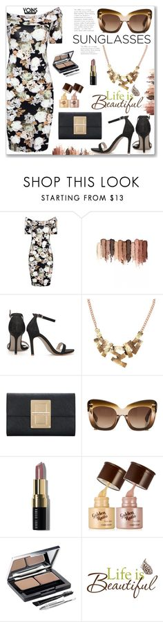 """""""Formal :: Floral Print Dress with Off Shoulder by Yoins"""" by jecakns ❤ liked on Polyvore featuring tarte, Erdem, Bobbi Brown Cosmetics, L'Oréal Paris and Wall Pops!"""
